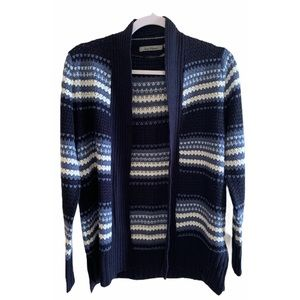 Jason Maxwell Varisty Open Cardigan Blue Stripe PM